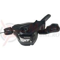 Maneta schimbator Shimano Deore XT SL-M 8000 I-Spec B 2-3v stanga, black, 1800mm