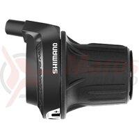Maneta schimbator Shimano Tourney Revoshift SL-RV200-7R - Dreapta-Spate, 7 Viteze