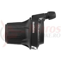 Maneta schimbator Shimano Tourney SL-RV200-L - Stanga-Fata, 3 Viteze