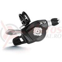 Maneta schimbator - SRAM - X.9, trigger, 9/3 viteze, 1:1, argint