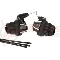 Manete de schimbator Shimano Tourney SL-RS35 6x3v stanga neindexata Revo cablu 1800/2050 mm camasa neagra 600/600/300mm