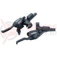 Manete schimbator/frana Shimano set ST-M535-L DEORE, 3x9V, negru