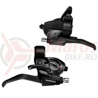 Manete schimbator/frana Shimano Tourney ST-EF41 7x3v cu cabluri negre