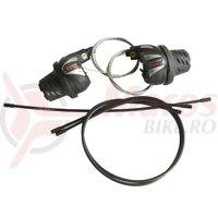 Manete schimbator Shimano SL-RS36 6*3v Tourney revoshift cu cabluri si camasi