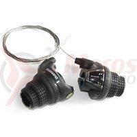 Manete schimbator Shimano Tourney Revo 3x7v cu cabluri