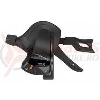 Manete schimbator Sunrace DLMS10 Trigger 2/3x10 vit negre