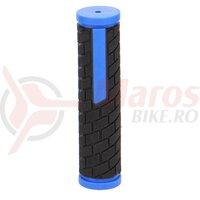 Mansoane B-RACE MTB Negru/Albastru 128 mm