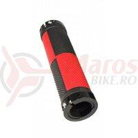 Mansoane Propalm PRO-B401EP, 128mm, cu lock-on aluminiu, negru cu rosu, AM