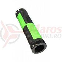 Mansoane Propalm PRO-B401EP, 128mm, cu lock-on aluminiu, negru cu verde