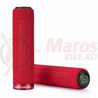 Manson ROCKBROS shock absorption handlebar single lock-on, burete rosu
