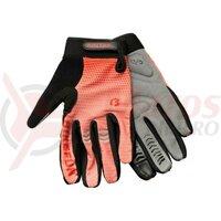 Manusi Bikefun Airzone cu degete lungi negru/rosu