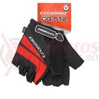 Manusi Crosser RS-512 fara degete - negru/rosu