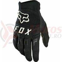 Manusi Fox Dirtpaw Glove - Black [Black/White]