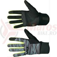 Manusi Northwave winter FAST GEL long, anthracite/yellow fluo