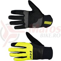 Manusi Northwave Winter Power3 Gel long, Black/Yellow Fluo