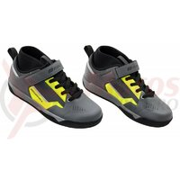 Pantofi Force Downhill, gri/fluo
