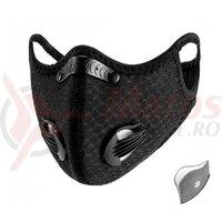 Masca ROCKBROS anti-smog+ filtru, Black LF2014-1