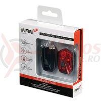 Set lumini fata/spate INFINI Mini Beamer I-260 HR USB negru