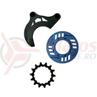 MIRANDA chainguard-set for e-bike incl. chainring 14 teeth and chainguide for GEN2, blue (PU = 1 set)