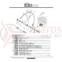 Niplu WH-RS10 Shimano argintiu