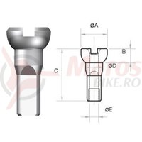 Nipluri Sapim Polyax Brass 14G 12 mm placate nichel 100 bucati