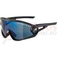Ochelari Alpina 5W1NG CM+ frame black blur lenses blue mir
