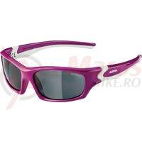 Ochelari Alpina Flexxy Teen frame berry/white glass blk. mirr.S3