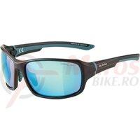 Ochelari Alpina Lyron frame Black matt dirt Blue , lens.Blue mirror