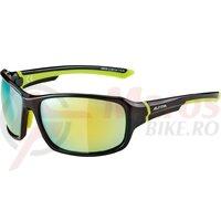 Ochelari Alpina Lyron frame Black/Neon Yellow ,glass Yellow mirror S3