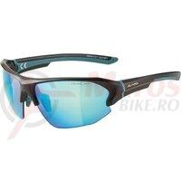 Ochelari Alpina Lyron HR frame black matt blue lenses blue mirrored