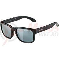 Ochelari Alpina Mitzo frame black, lenses black mirror.S3