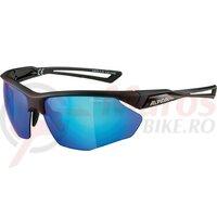 Ochelari Alpina Nylos HR frame black matt lenses blue mirror