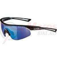Ochelari Alpina Nylos Shield frame black glass blue mirrored S3