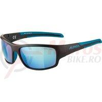 Ochelari Alpina Testido frame black Matt-Blue, lenses Blue mirror