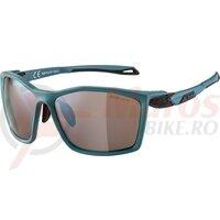 Ochelari Alpina Twist Five HM+ frame dirt blue matt lenses black mirrored