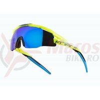 Ochelari Force Everest fluo, lentila albastra oglinda