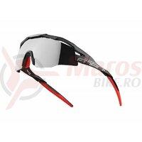 Ochelari Force Everest negru mat, lentila neagra oglinda