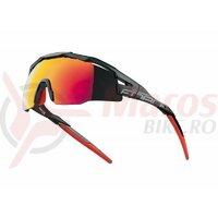 Ochelari Force Everest negru mat, lentila rosie oglinda
