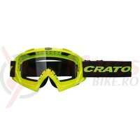 Ochelari MTB Cratoni C-Rage neon yellow gloss, transparent lenses