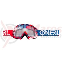 Ochelari O'Neal B-10 Pixel hi-viz rame/rosii/albastre