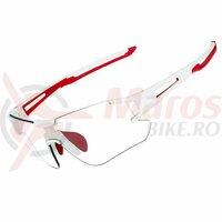 Ochelari ROCKBROS frameless, photochromic UV400, alb-rosu