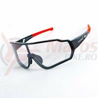 Ochelari ROCKBROS Photochromatic, unisex, UV400 Protection, Negru/Rosu