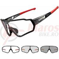 Ochelari ROCKBROS Photochromatic, unisex, UV400 Protection Rosu/Negru