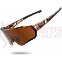 Ochelari ROCKBROS polarizati, protectie UV400, maro