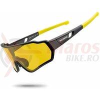 Ochelari ROCKBROS polarizati, protectie UV400, negru-galben