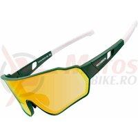 Ochelari ROCKBROS polarizati, protectie UV400, verde-alb