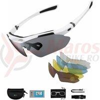 Ochelari ROCKBROS polarizati UV400 cu 5 lentile, alb