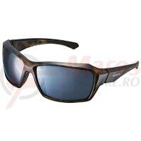 Ochelari Shimano CE-S22X frame brown tortoise (bekko) - black lences smoke silver mirror hydrophobic anti fog