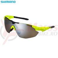 Ochelari Shimano S40R galben neon/negru lentile maro oglinda + lentile transparente