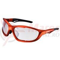 Ochelari Shimano S60X-PH mat metallic orange/black lentile photochromic clear